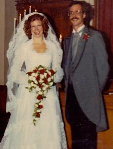 terry & I wedding day