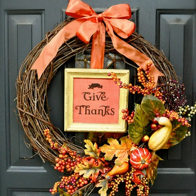 9 Festive Wreaths to Make for Thanksgiving