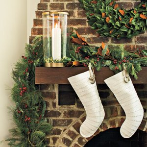Dressed-Up Christmas Mantels