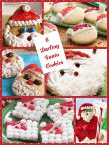 6 Santa Cookie Creations